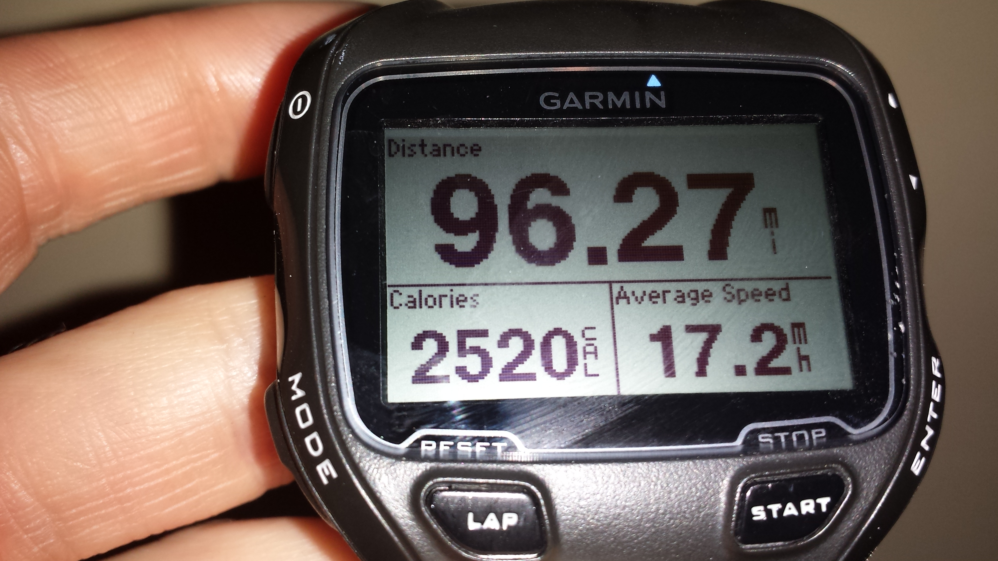 96 mile ride Garmin